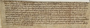 Kintbury - Image: S 1533 Will of Wulfgar (BL Cotton Charters VIII 16 B)