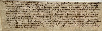 "Inkpen - Will of Wulfgar, AD 931–939, granting land in Inkpen to the ""holy place"" (halgan stowe) at Kintbury (Cynetanbyrig)"