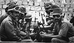 Western Sahara War - Saharawi soldiers 1983