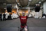 Sailor lifts weights during the Ike Strength Fest competition. (32498553470).jpg