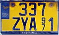 "Saint-Barthélemy — license plate ""337 ZYA"" (cropped).JPG"