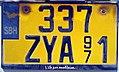 "Saint-Barthélemy — license plate ""337 ZYA"" (cropped).JPG"