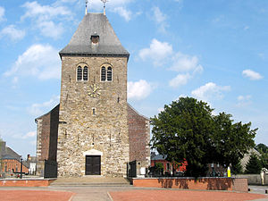 La Bruyère, Belgium - Saint-Denis-Bovesse (La Bruyère), the church.