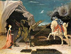 Saint George and the Dragon by Paolo Uccello (London) 01