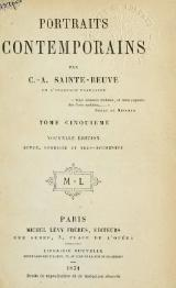 Sainte-Beuve - Portraits contemporains, t5, 1871.djvu