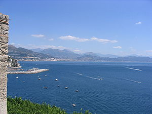 Gulf of Salerno - The Gulf of Salerno seen from the Amalfi Coast.