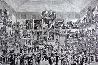 Art exhibition - The Paris Salon of 1787, held at the Louvre