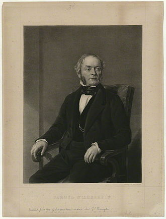 Preschool - Samuel Wilderspin, one of the founders of preschool education. 1848 engraving by John Rogers Herbert.