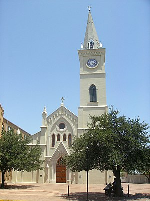 South Texas - Laredo is the third largest city in South Texas. The San Agustin Cathedral was built during the Spanish Texas period.