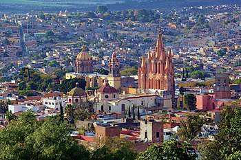 Panoramic view of San Miguel de Allende