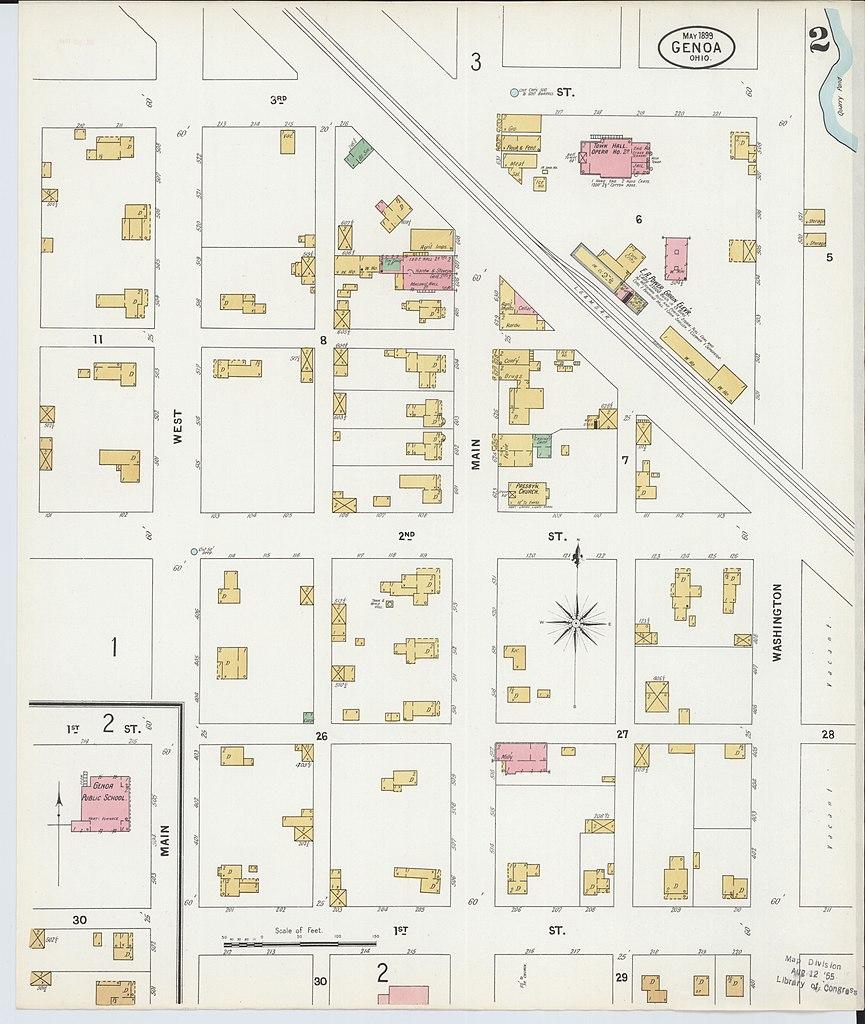Genoa Ohio Map.File Sanborn Fire Insurance Map From Genoa Ottawa County Ohio Loc
