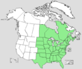 Sanguinaria canadensis range map.png