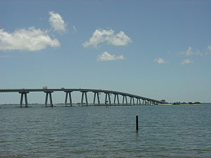 Sanibel Causeway - Bridge A, with Bridges B and C in the background.
