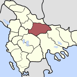 Location of Sanjak of Skopje