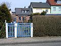 Sankt-Annen-Straße 8 in Celle, im Bürgersteig der Stolperstein für den Homosexuellen Arthur Wese, 1942 gestorben an den Folgen der Haft im Zuchthaus Celle.jpg