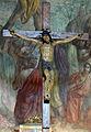 Sant'andrea a rovezzano, int., crocifisso del XVI sec sullo sfondo degli affreschi di luigi ademollo 2.jpg