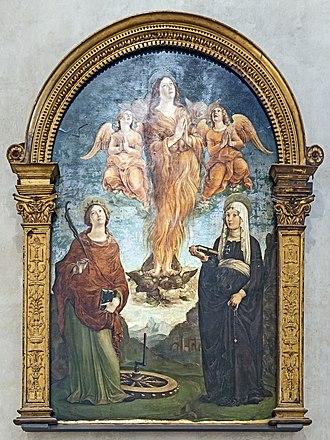 Liberale da Verona - Saint-Madeleine, Saint-Catherine and Saint-Tuscany Sant'Anastasia (Verona)
