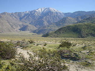 Nordseite der San Jacinto Mountains
