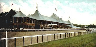 Diamonds Are Forever (novel) - The main track of Saratoga Race Course (in 1907)