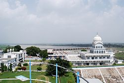 Gurudwara Tibbi Sahib situated on the banks of Satluj, Rupnagar.
