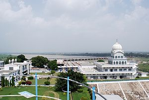 Rupnagar district - Gurdwara Shri Tibi Sahib on the banks of river Sutlej