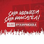 """Spanduk """"Saya Indonesia, Saya Pancasila""""."""