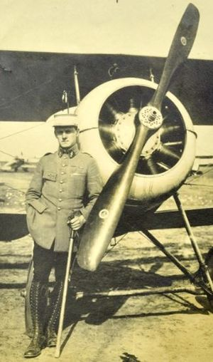 Albert Achard - Albert Achard and his aircraft during World War I