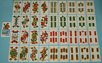 German playing cards - Bavarian (Munich type) deck