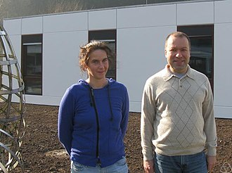 Anne Schilling - Anne Schilling with Cristian Lenart at the MFO, 2011
