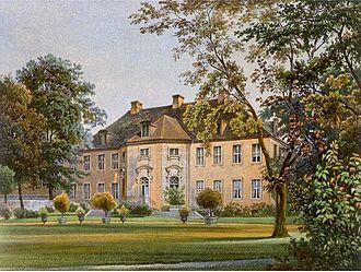 Schöneiche - Palace Schöneiche around 1860, Edition by Alexander Duncker