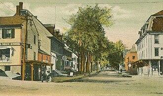 Hillsborough, New Hampshire - School Street in 1907