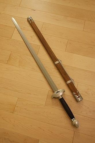 Jian - Modern jian with scabbard