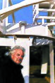 Sculptor, David Black, in front of his piece, Wind Point.jpg