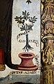 Scuola ligure, immacolata concezion e santi, xvi secolo, dalla ss. annunziata a savona, 07 maria tra attributi mariani 08 cedro.jpg