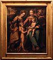 Scuola romagnola, sacra famiglia coi ss. giovannino e caterina, xvi secolo.jpg