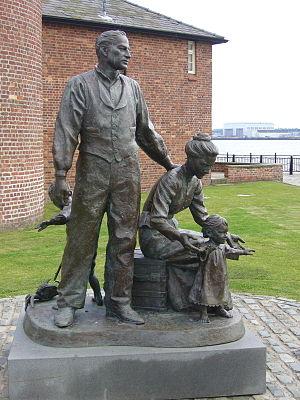 Sea Trek 2001 - The Sea Trek 2001 commemorative statue in Liverpool