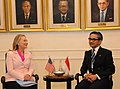 Secretary Clinton With Foreign Minister Natalegawa in Indonesia (7924230794).jpg
