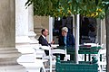 Secretary Kerry Chats With Saudi Foreign Minister al-Jubeir After GCC Meeting in Paris (17429081231).jpg