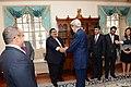 Secretary Kerry Shakes Hands With Bahraini Foreign Minister Sheikh Khalid bin Ahmed al-Khalifa.jpg