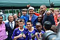 Secretary Kerry With Young Athletes and Sports Envoys Scurry, Jones and Sanneh (13856029753).jpg