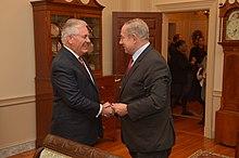 Rex Tillerson With Israeli Prime Minister Benjamin Netanyahu