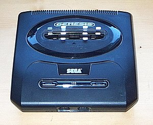 Picture of the Sega Genesis 2 game console. As...