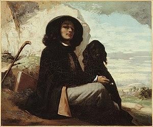 1841 in art - Image: Selbstbildnis mit schwarzem Hund