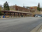 Separate bus stands at Old Town Transit Center in Park City, Utah, Apr 16.jpg