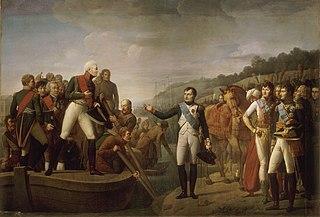 Adieux de Napoléon et d'Alexandre après la paix de Tilsitt, 9 juillet 1807