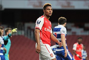 Serge Gnabry - Gnabry playing for Arsenal U21s in April 2015