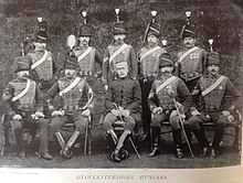 Photograph of yeomanry sergeants in the late 19th century