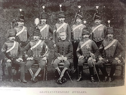 Sergeants of the Royal Gloucestershire Hussars yeomanry Sergeants, Gloucestershire Hussars, 1896.jpg
