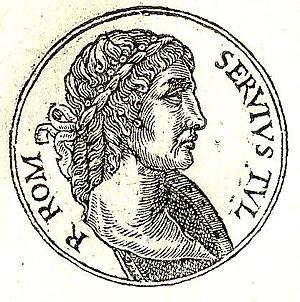 Servius Tullius - Servius Tullius, 16th-century depiction published by Guillaume Rouillé