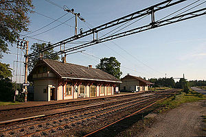 Nes, Akershus - Seterstøa station in Nes was built in 1862